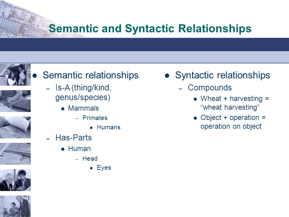 Semantic and Syntactic Relationships