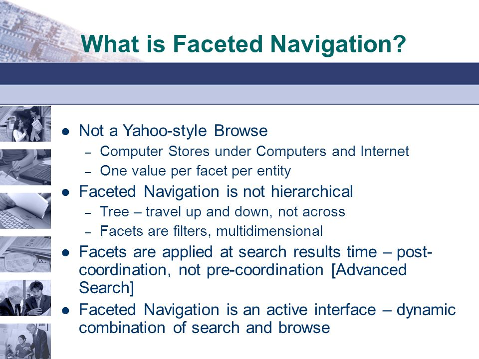 What is Faceted Navigation