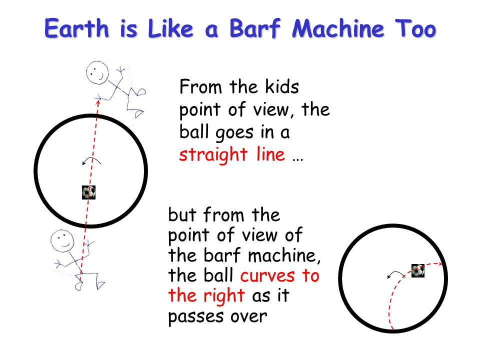 Earth is Like a Barf Machine Too