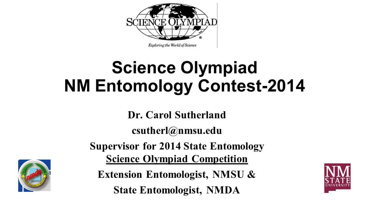 Science Olympiad NM Entomology Contest-2014