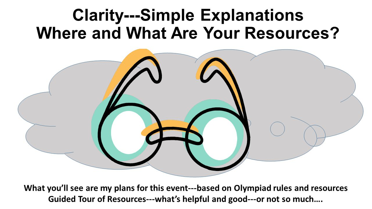 Clarity---Simple Explanations Where and What Are Your Resources