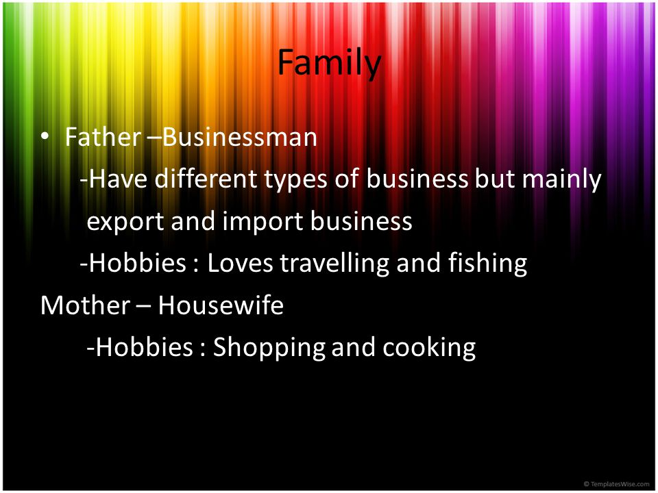 Family Father –Businessman