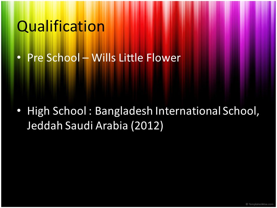 Qualification Pre School – Wills Little Flower
