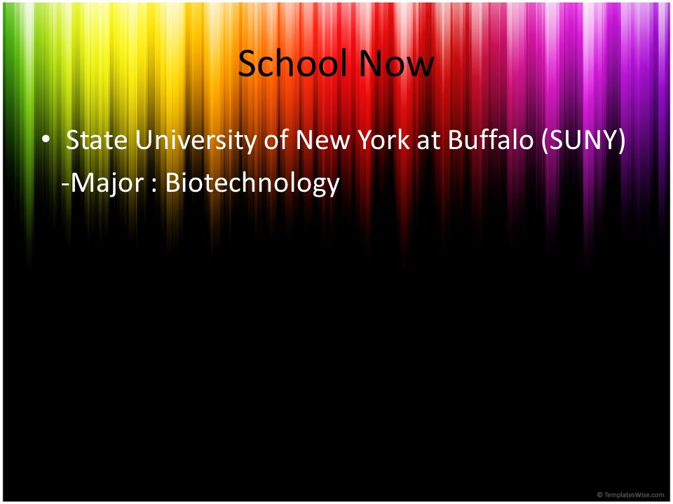 School Now State University of New York at Buffalo (SUNY)