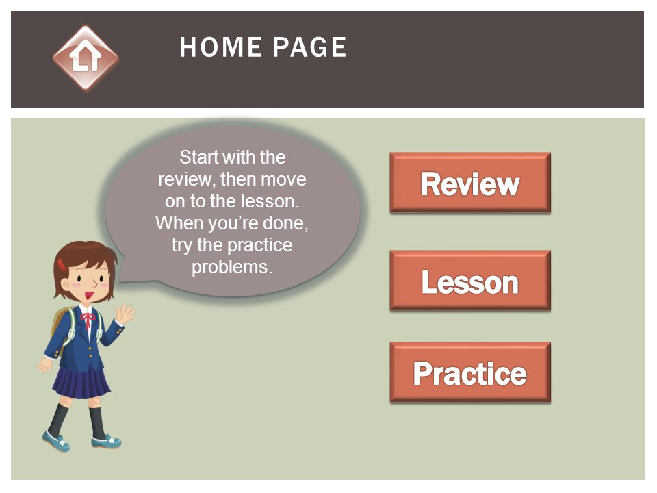 Review Lesson Practice Home PAGE