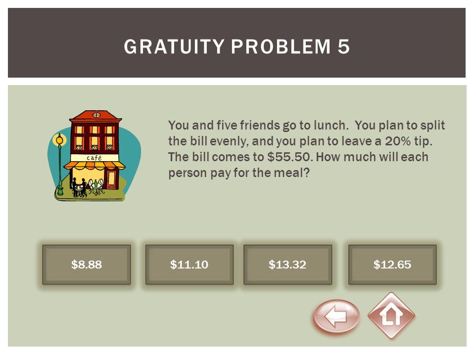 Gratuity Problem 5