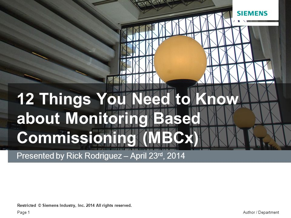 12 Things You Need to Know about Monitoring Based Commissioning (MBCx)