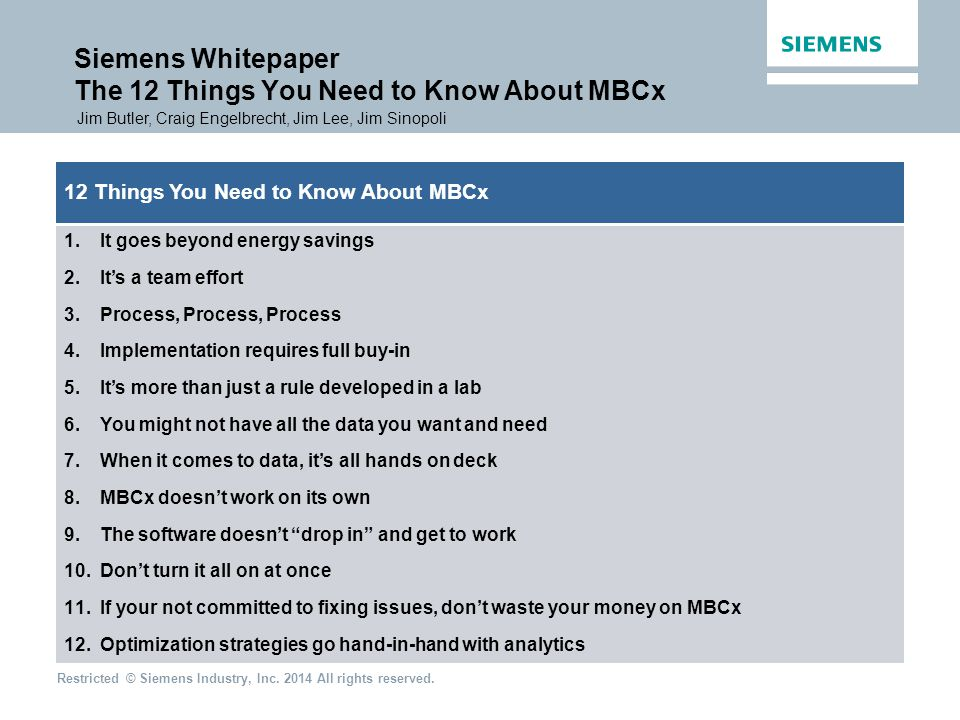 Siemens Whitepaper The 12 Things You Need to Know About MBCx