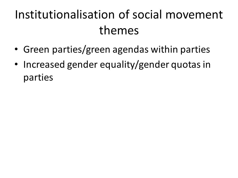 Institutionalisation of social movement themes