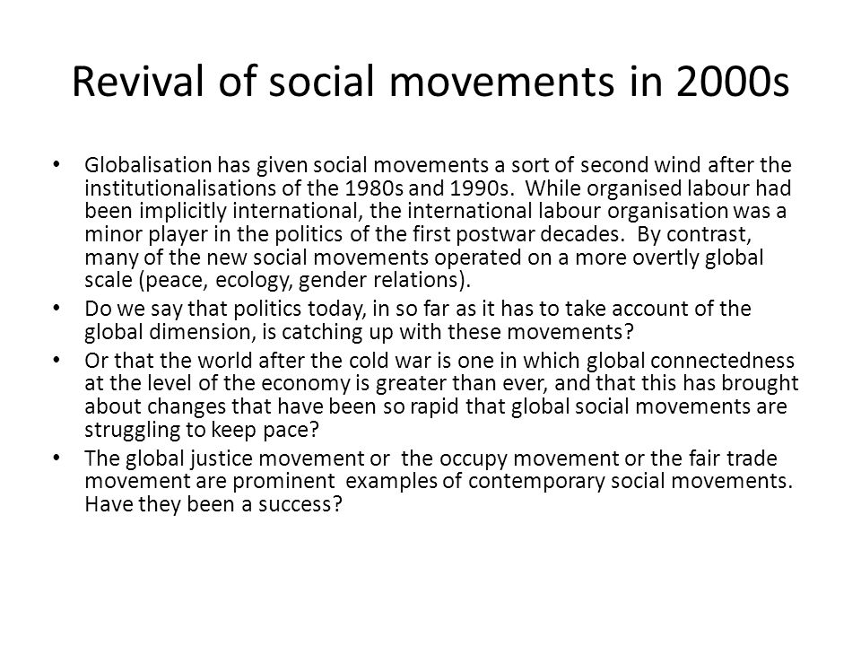 Revival of social movements in 2000s