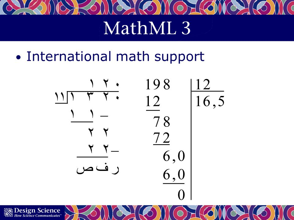 MathML 3 International math support