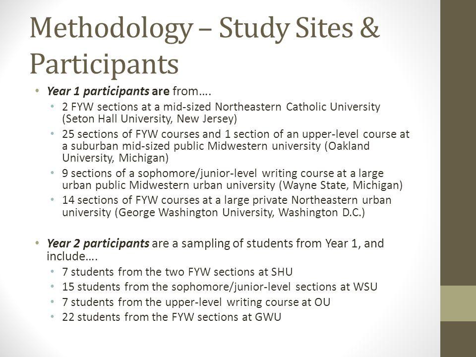 Methodology – Study Sites & Participants