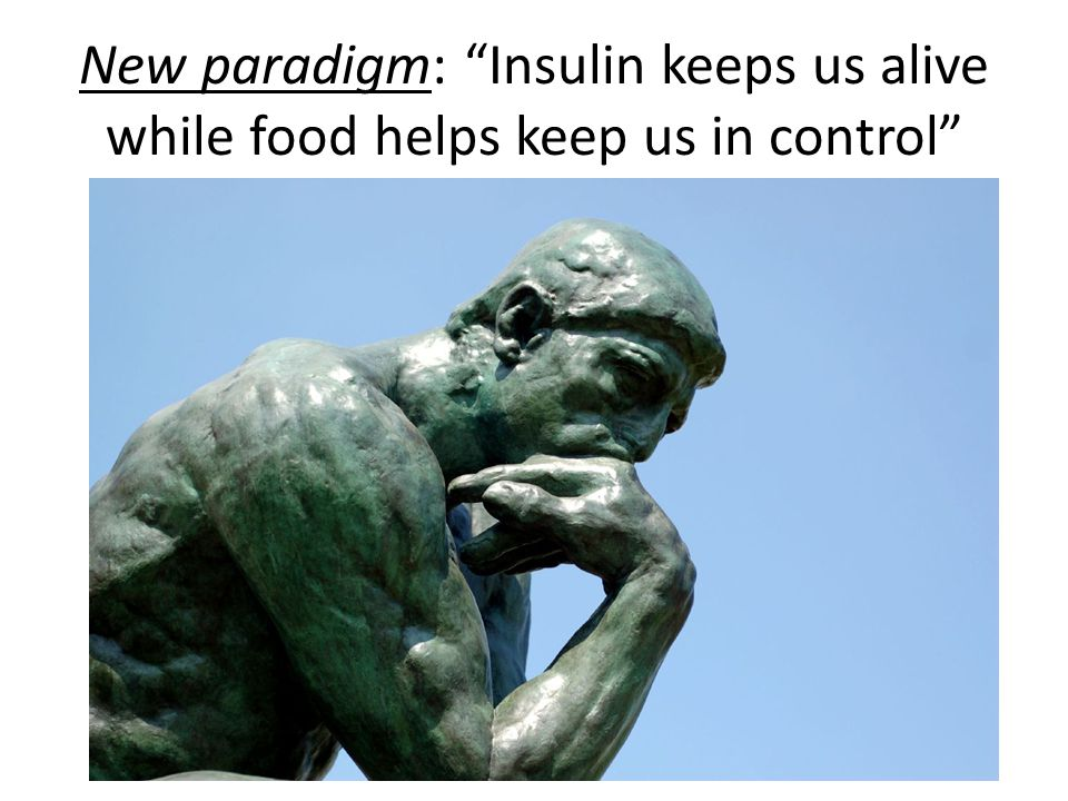 New paradigm: Insulin keeps us alive while food helps keep us in control