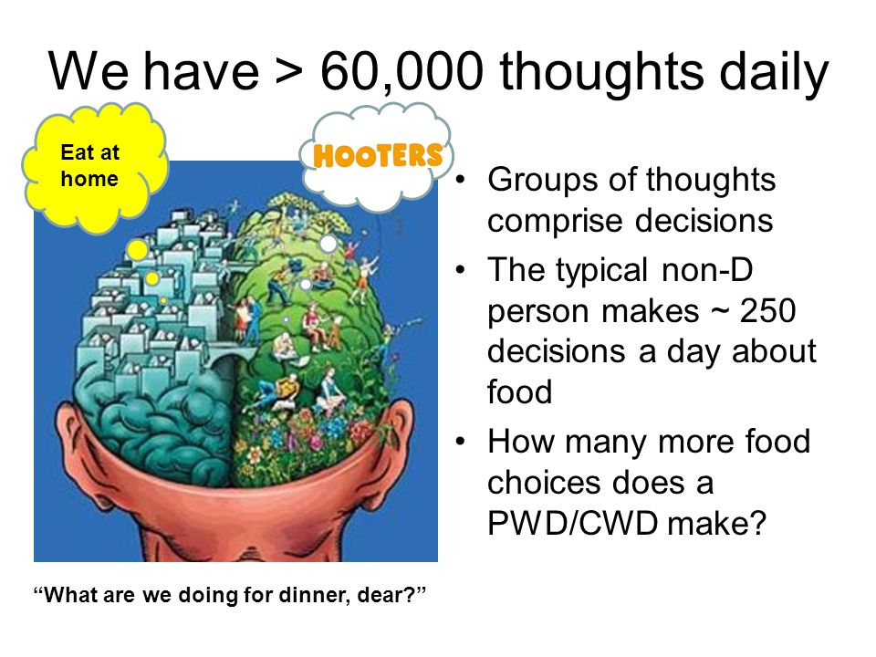 We have > 60,000 thoughts daily