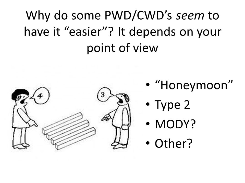 Why do some PWD/CWD's seem to have it easier