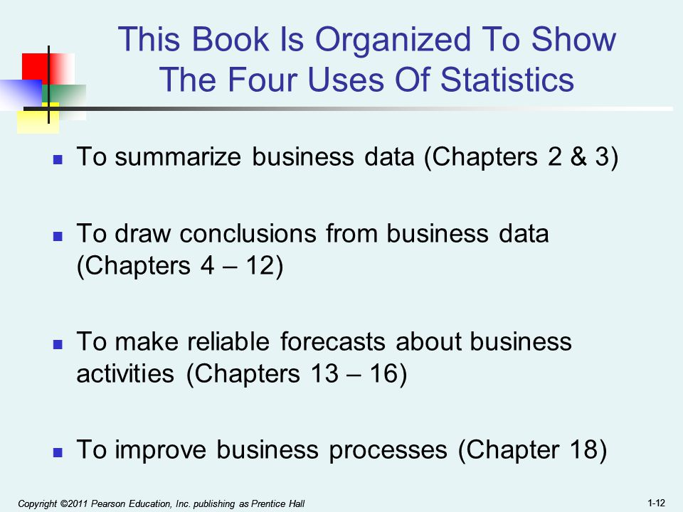 This Book Is Organized To Show The Four Uses Of Statistics