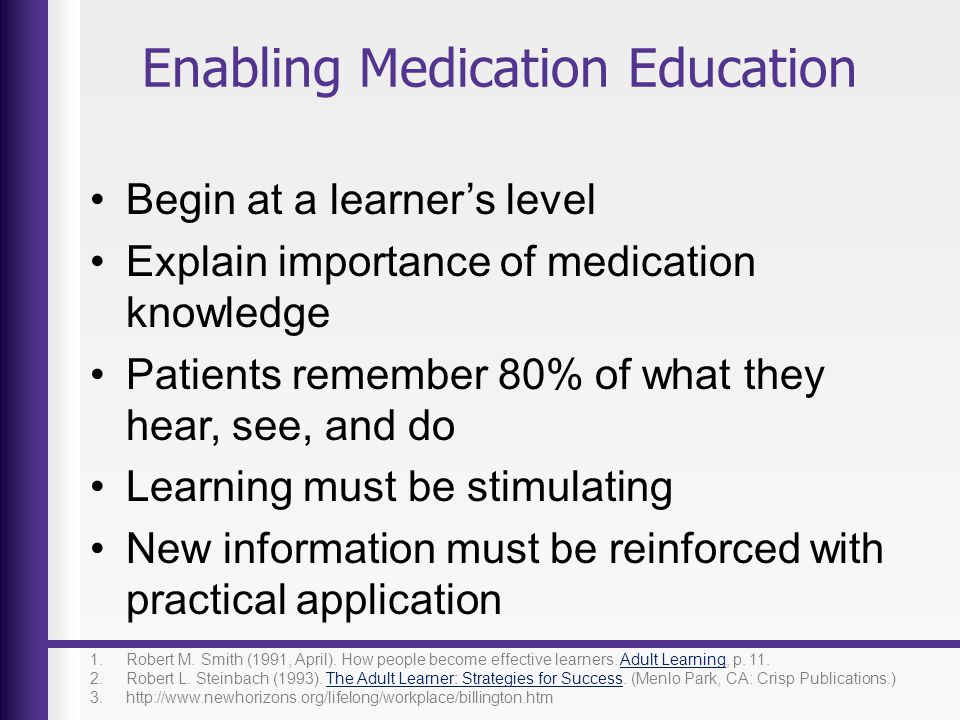 Enabling Medication Education