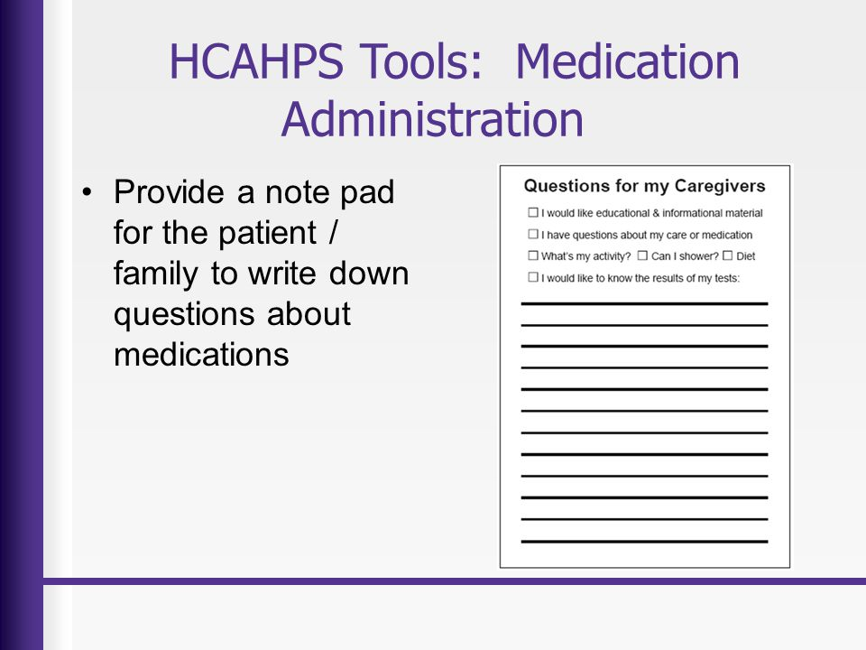 HCAHPS Tools: Medication Administration