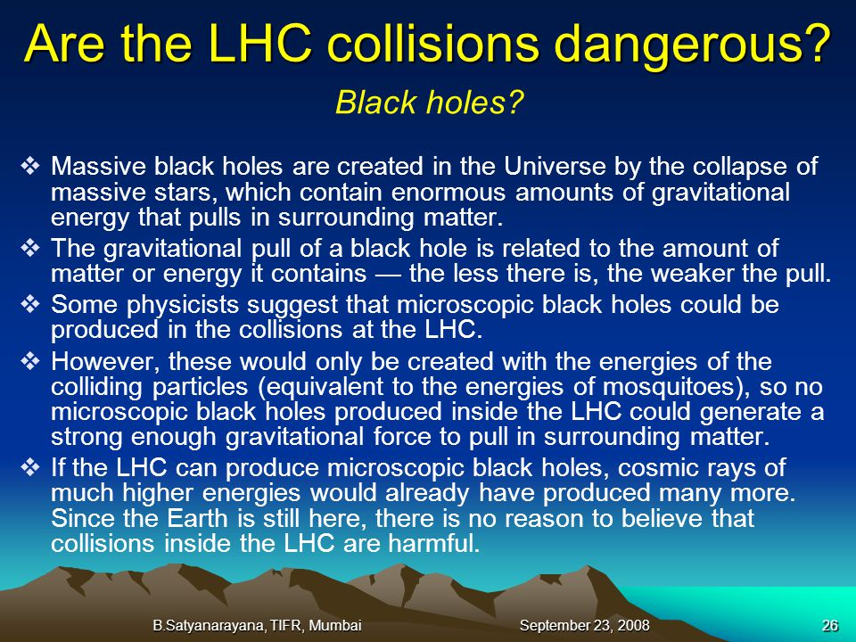Are the LHC collisions dangerous