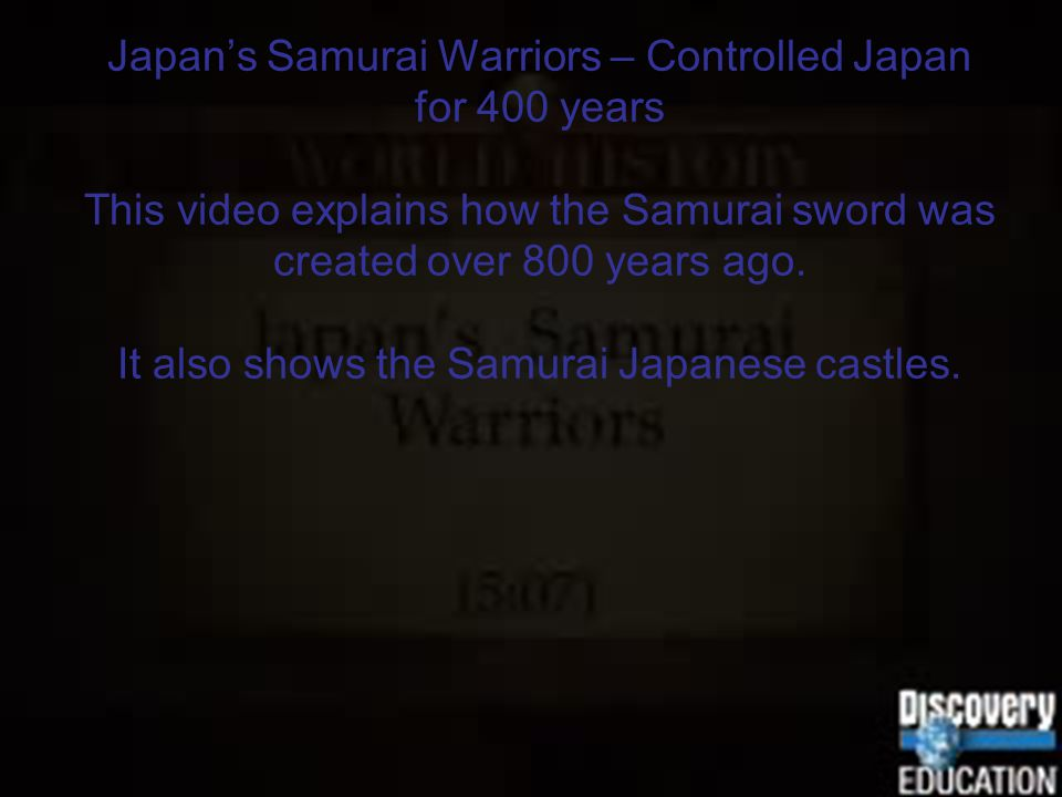Japan's Samurai Warriors – Controlled Japan for 400 years This video explains how the Samurai sword was created over 800 years ago.