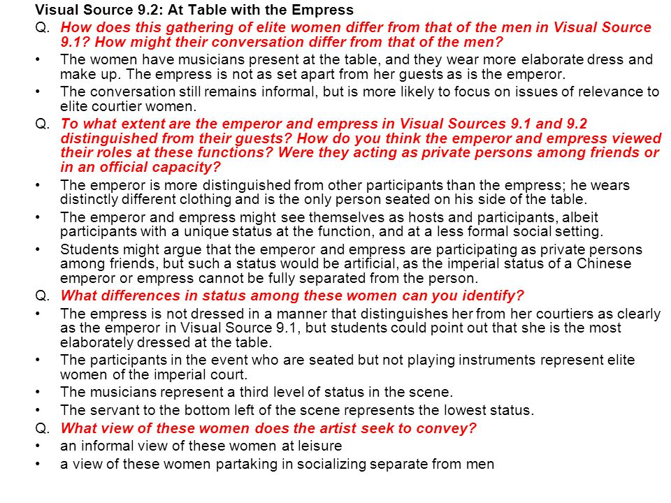 Visual Source 9.2: At Table with the Empress