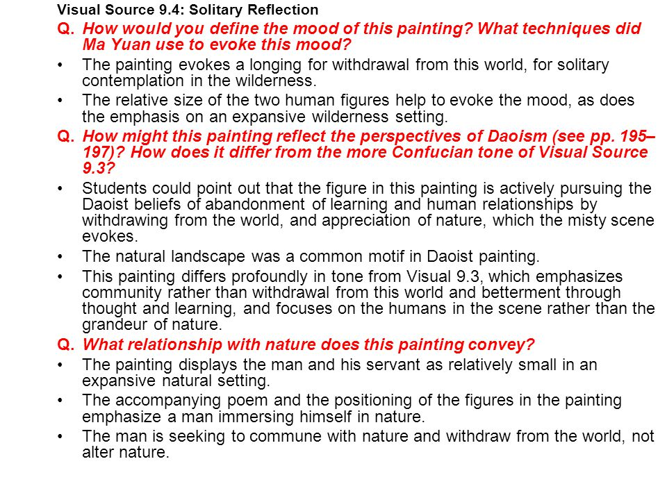 • The natural landscape was a common motif in Daoist painting.