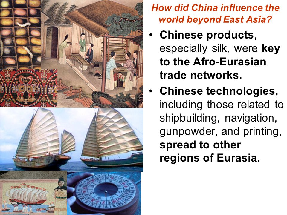 How did China influence the world beyond East Asia