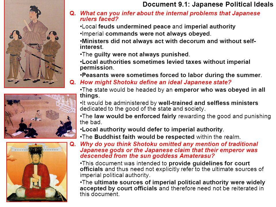 Document 9.1: Japanese Political Ideals