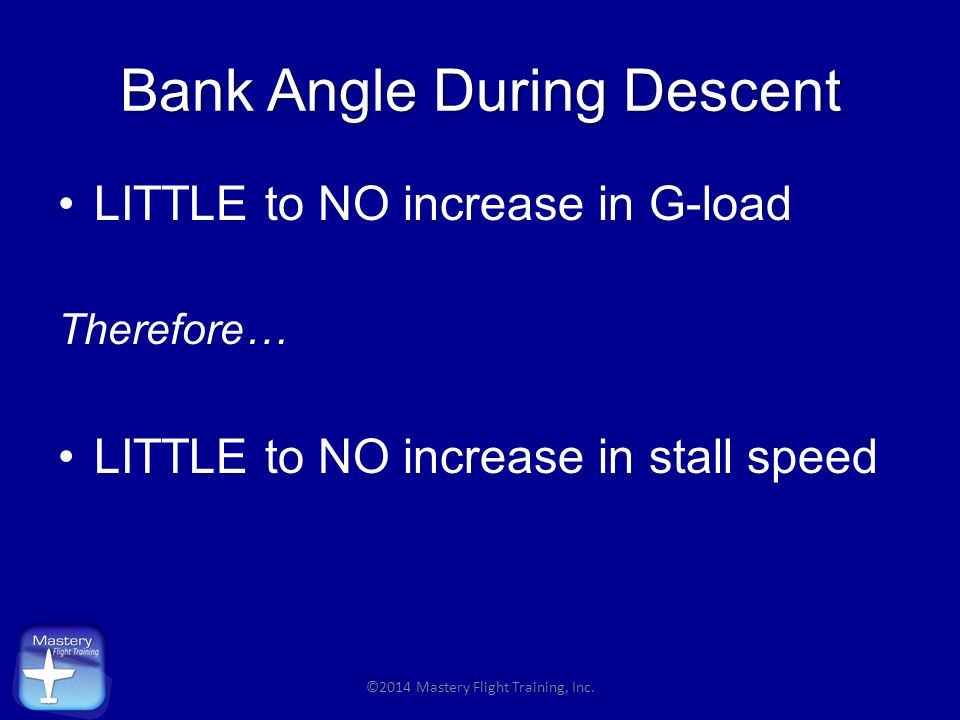 Bank Angle During Descent