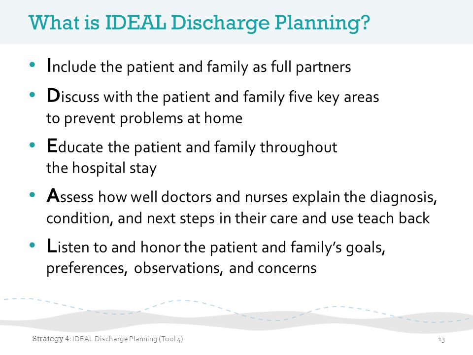 What is IDEAL Discharge Planning