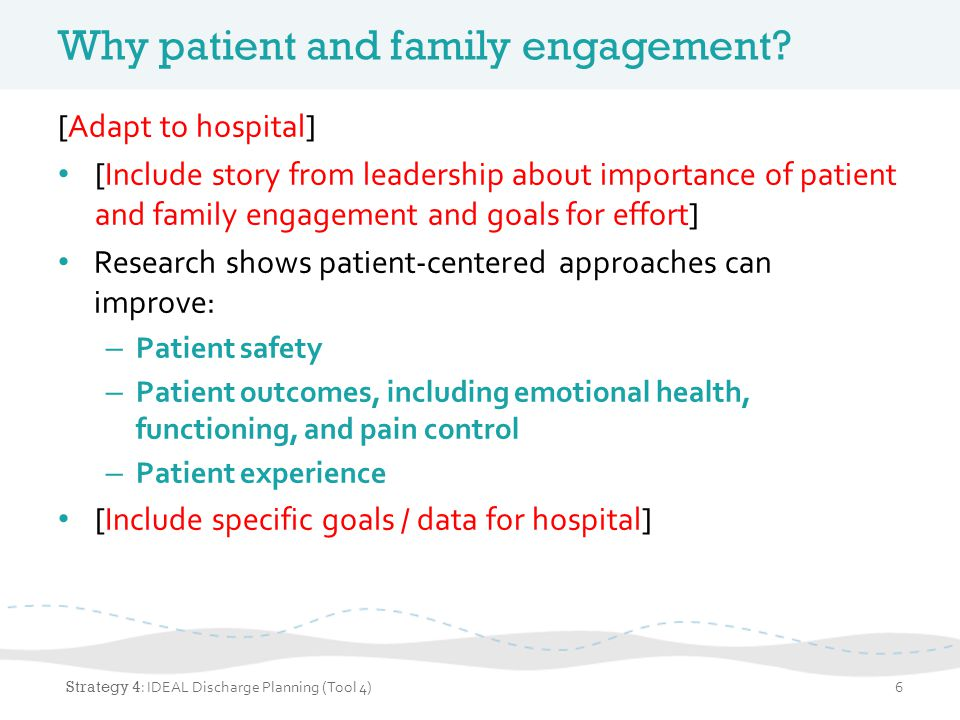 Why patient and family engagement