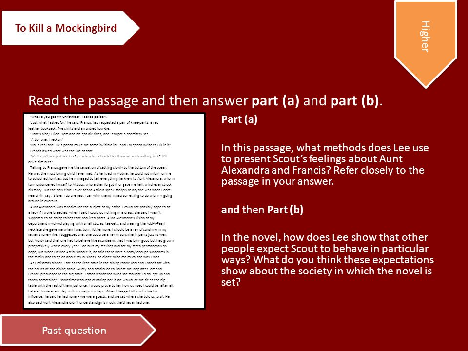 Read the passage and then answer part (a) and part (b).