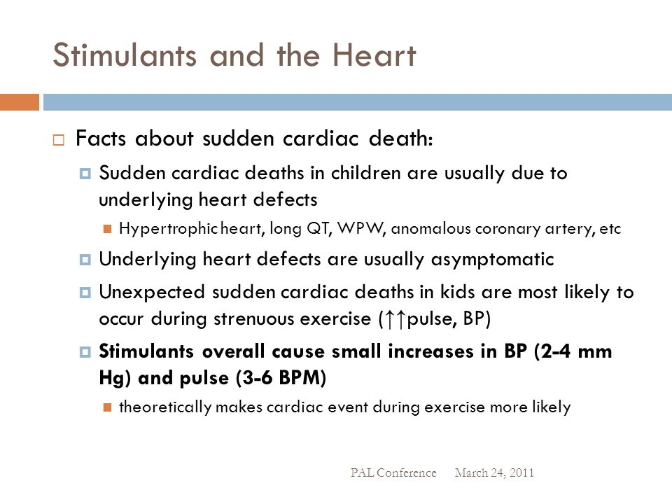 Stimulants and the Heart