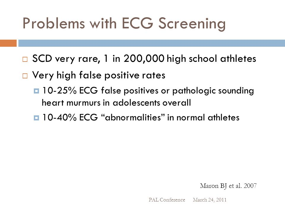 Problems with ECG Screening