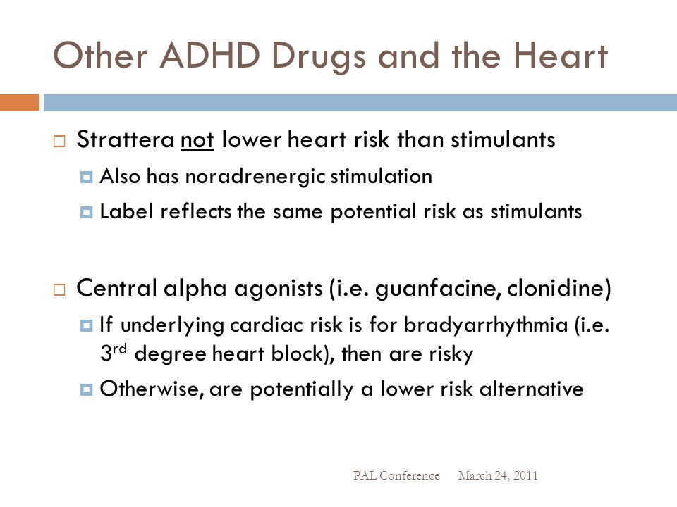 Other ADHD Drugs and the Heart