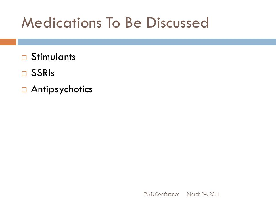 Medications To Be Discussed
