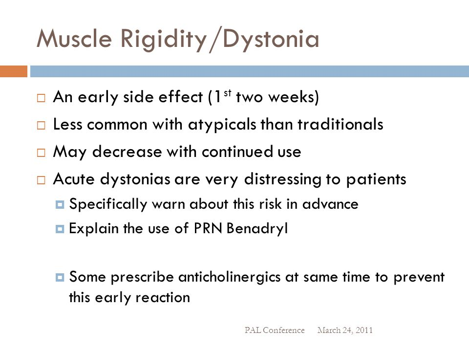 Muscle Rigidity/Dystonia