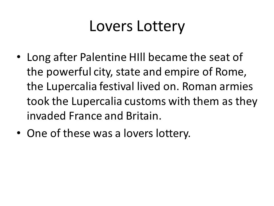 Lovers Lottery