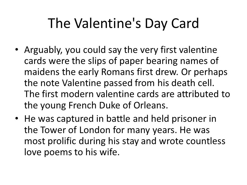 The Valentine s Day Card