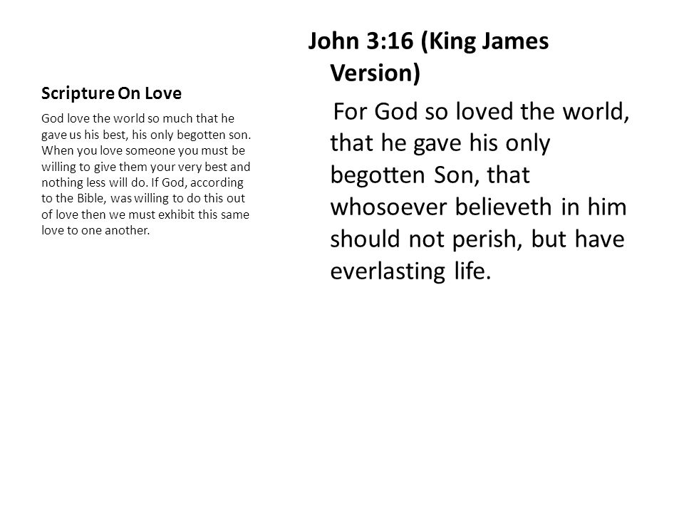 Scripture On Love