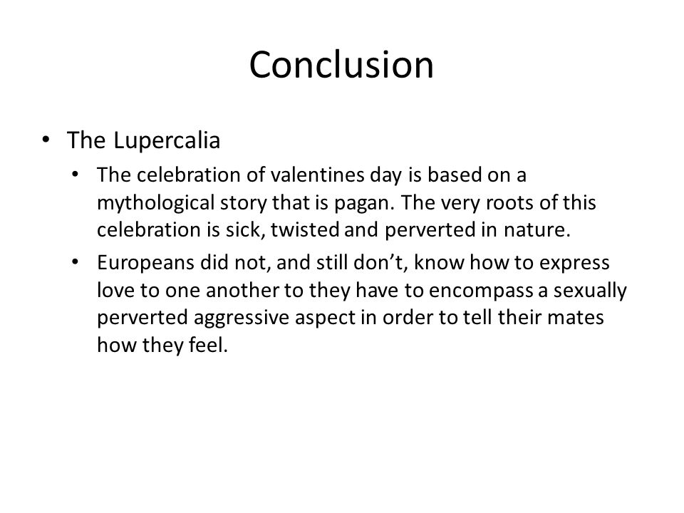 Conclusion The Lupercalia