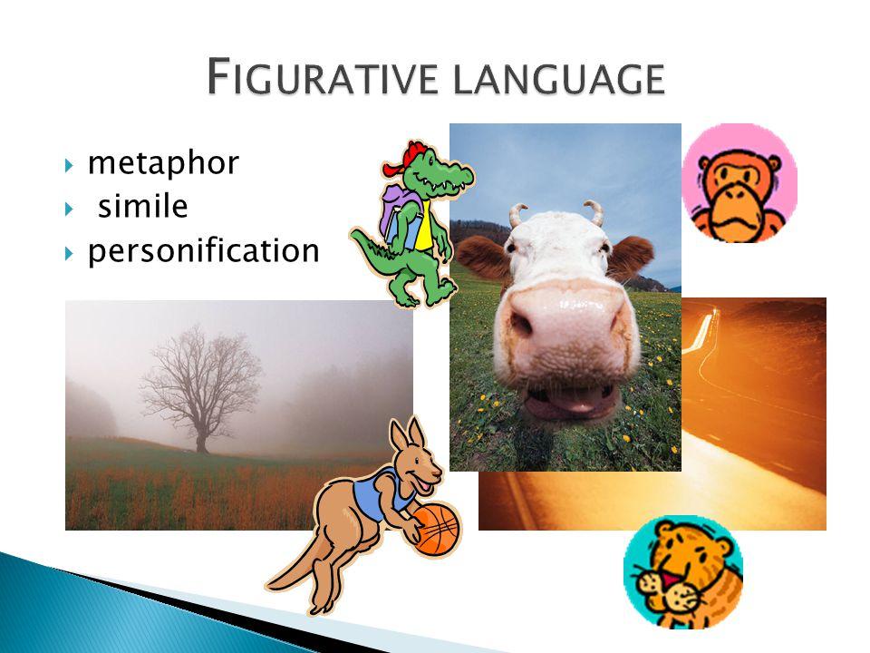Figurative language metaphor simile personification