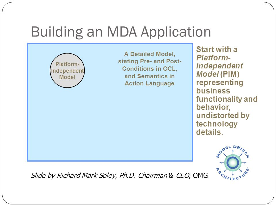 Building an MDA Application