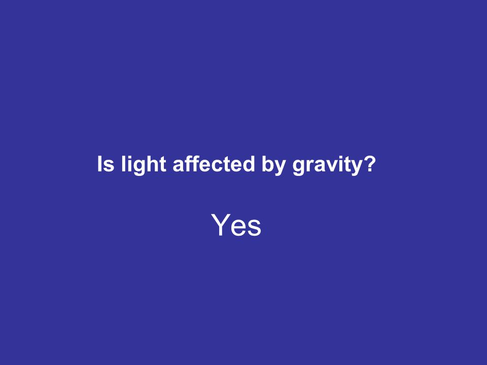 Is light affected by gravity
