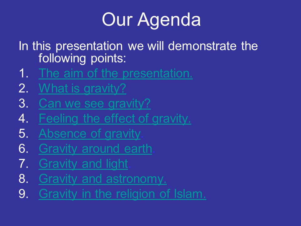 Our Agenda In this presentation we will demonstrate the following points: The aim of the presentation.