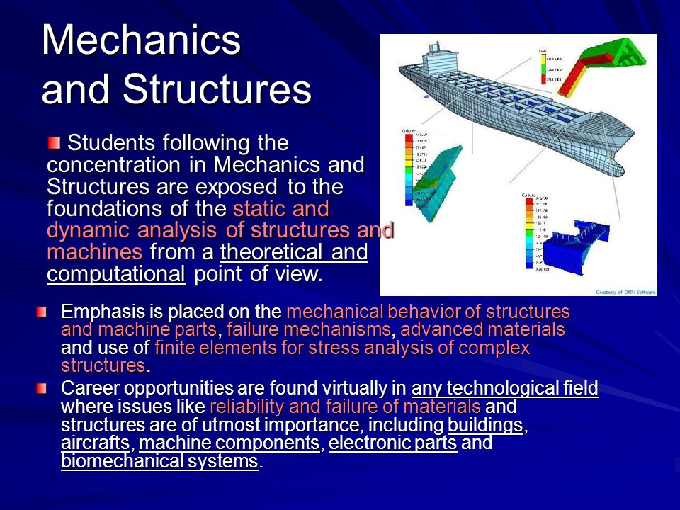 Mechanics and Structures