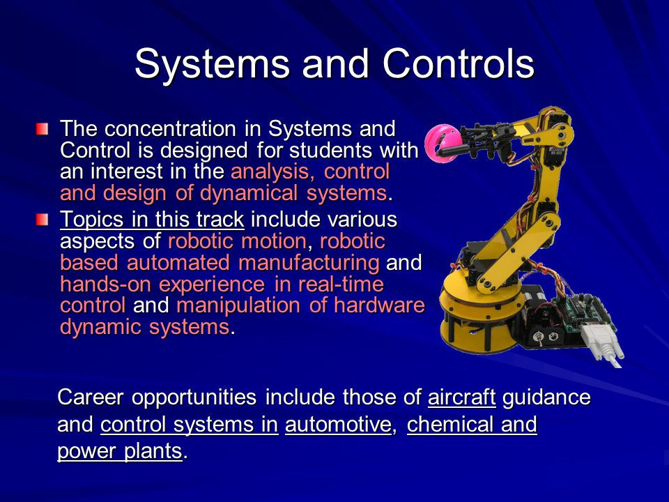 Systems and Controls