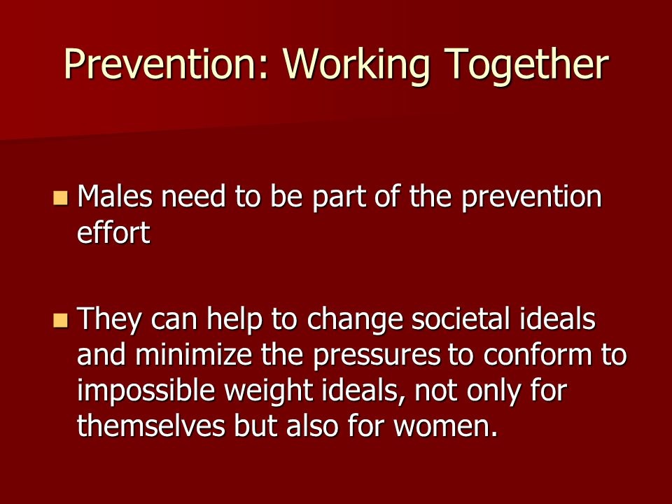 Prevention: Working Together