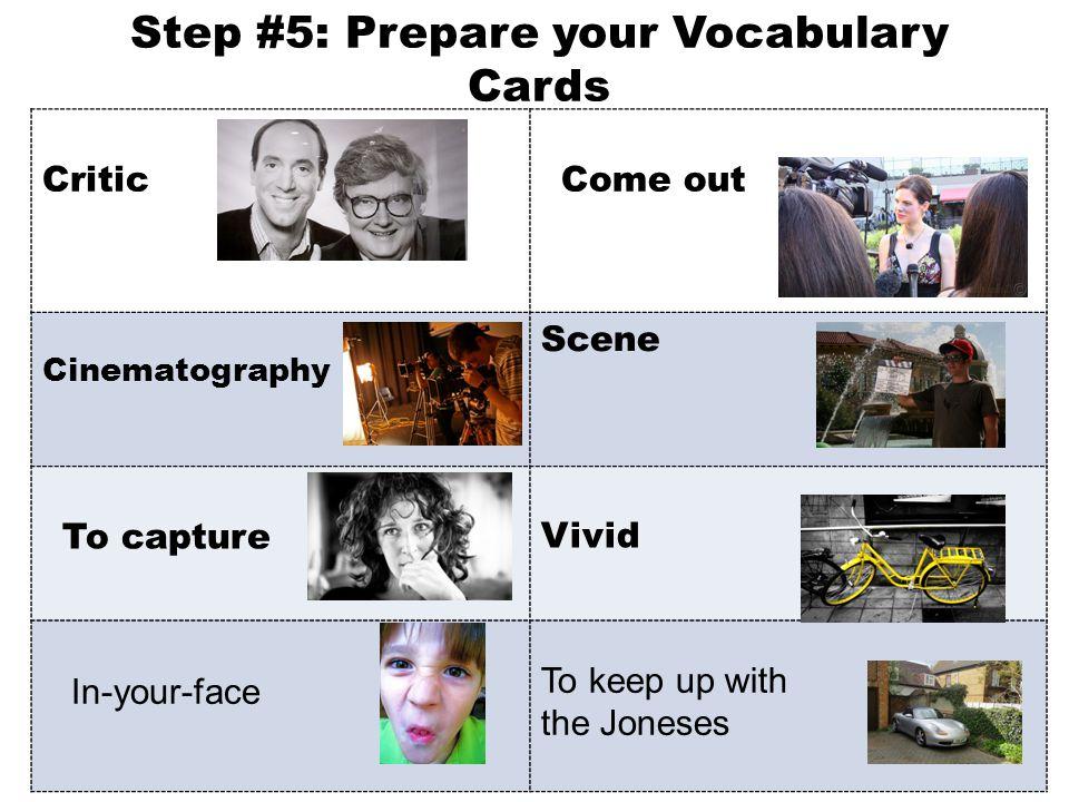 Step #5: Prepare your Vocabulary Cards