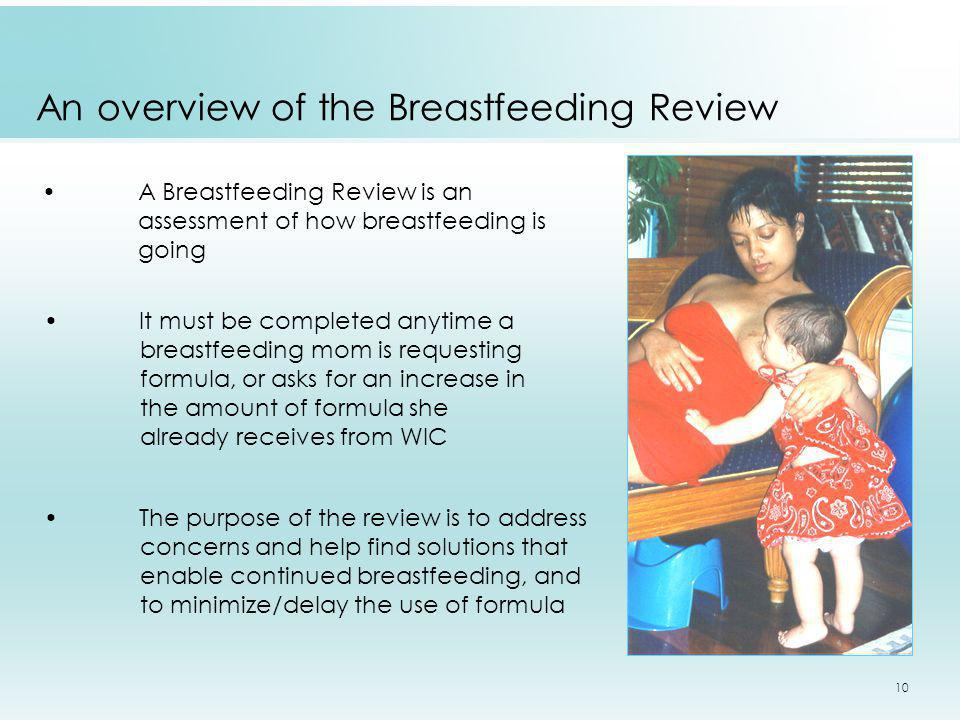 An overview of the Breastfeeding Review